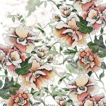 vibrant peony floral 3