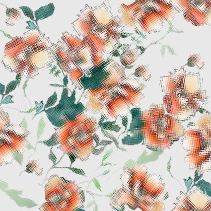 Glitch Floral Pattern