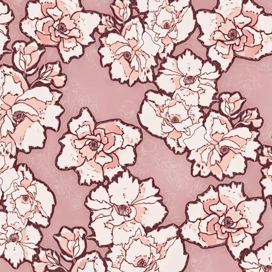 Pink Woodcut Peony TN