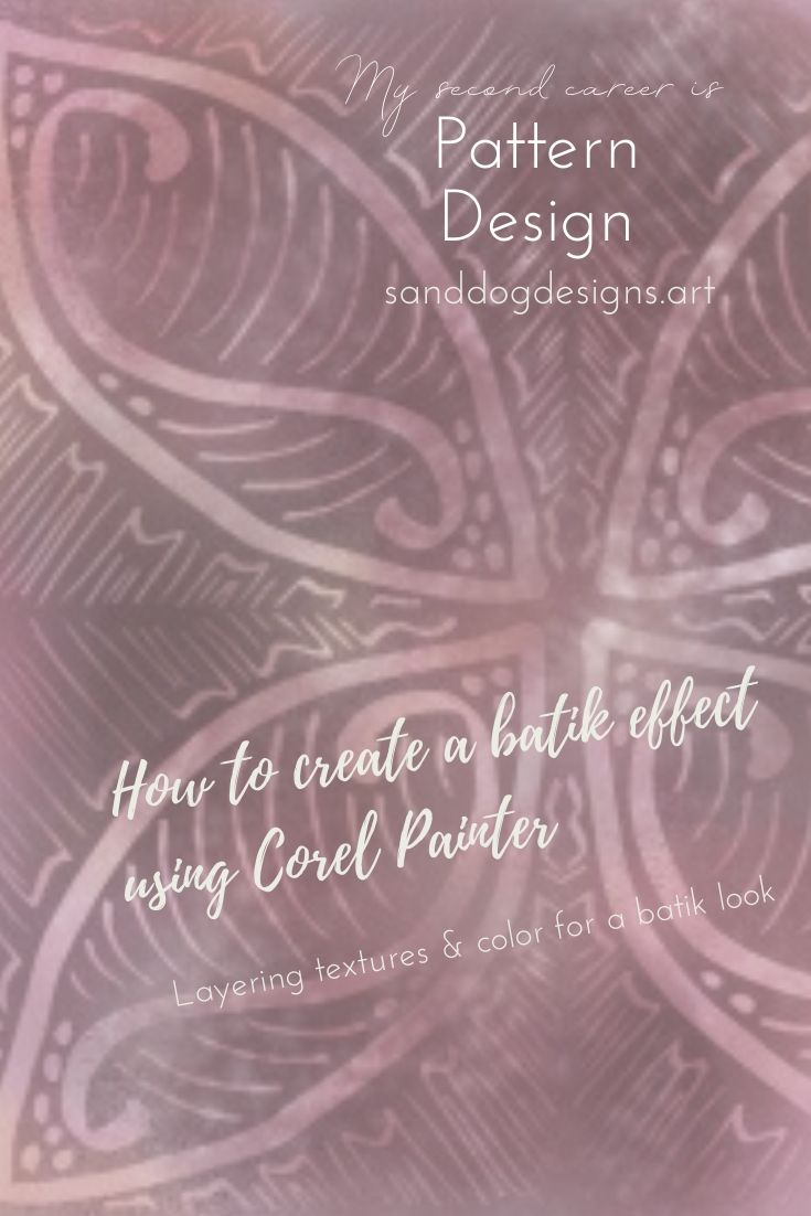 How to create a batik effect using Corel Painter